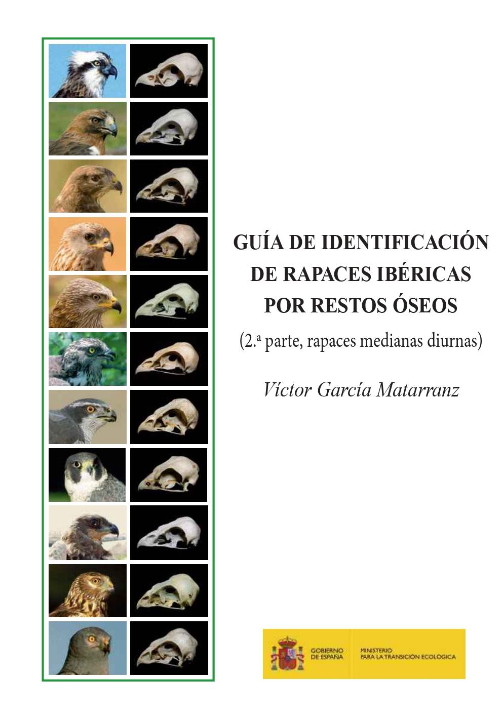 Portada Guía de identificación de los restos óseos de las rapaces ibéricas (2ª parte)