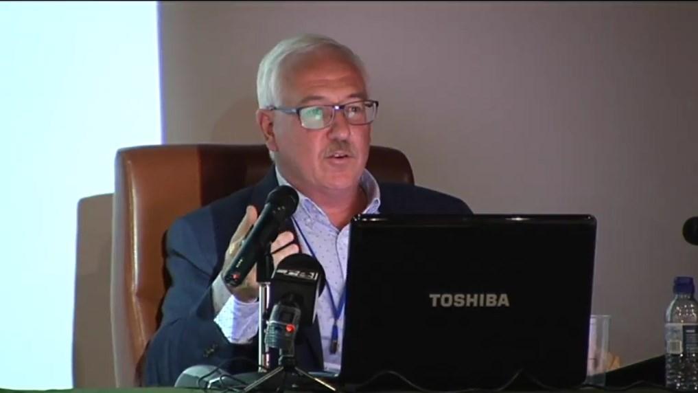A. J. Cambelo durante la charla