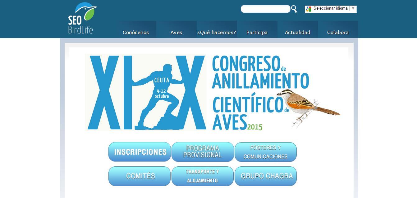 pagina web Congreso